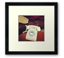 A modern but retro phone thing Framed Print