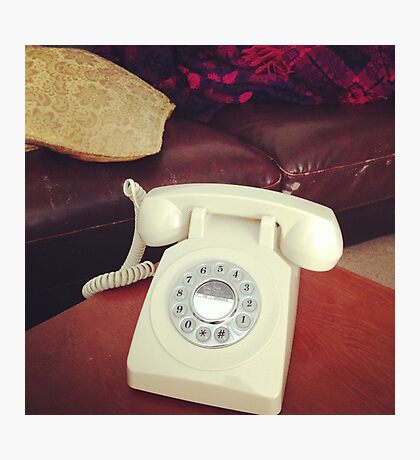A modern but retro phone thing Photographic Print
