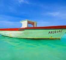 Fishing Boat Aruboat of Aruba by David Letts