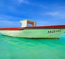 Fishing Boat Aruboat of Aruba by David Letts