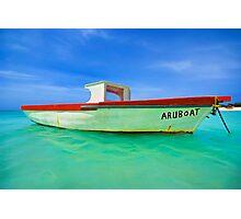 Fishing Boat Aruboat of Aruba Photographic Print