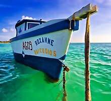 The Fishing Boat Roxanne of Aruba by David Letts