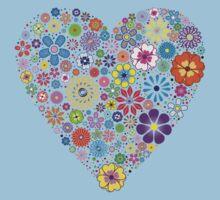Flower heart Kids Tee
