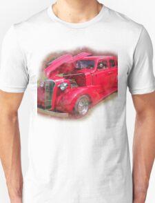 Red Antique Car.  T-Shirt
