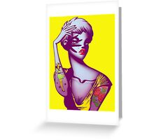 Tattoo Girl Greeting Card