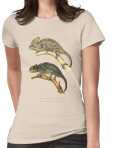 Chameleon Scientific Illustration Womens Fitted T-Shirt