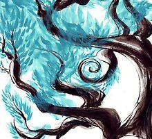 Blue Tree by middlenam