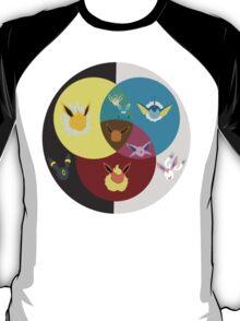 Eevee Evolutions Colour Wheel T-Shirt