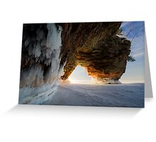 Fire and Ice, Apostle Islands, WI Greeting Card