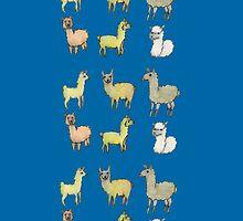 Lollygagging Llamas by irenelam