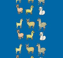 Lollygagging Llamas by irenelam
