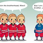 Jordan, Eric, Jared, and The Other Staal by widdlekes