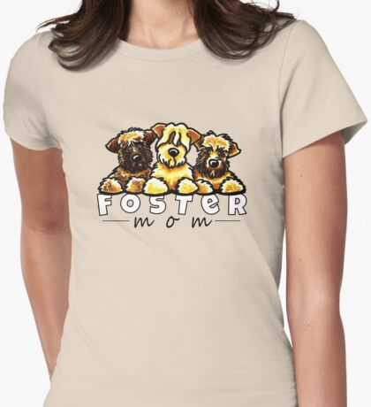 Foster Dog Mom Womens Fitted T-Shirt