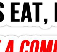 Let's Eat Kids Comma Sticker