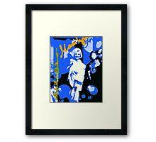 Blue Marilyn Framed Print