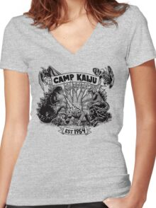 Camp Kaiju Women's Fitted V-Neck T-Shirt