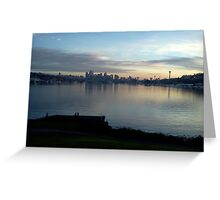 Lake Union Christmas Day 2013 Greeting Card