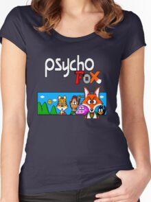 Psycho Fox Shirt Women's Fitted Scoop T-Shirt