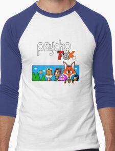 Psycho Fox Shirt Men's Baseball ¾ T-Shirt