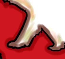 Red artistic California bear design Sticker