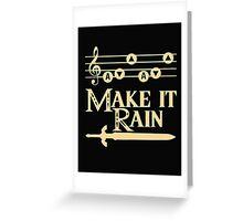 Legend of Zelda- Make It Rain Greeting Card
