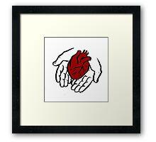 Heart in Hands Framed Print