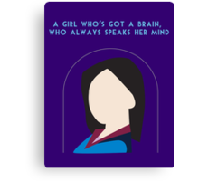 A Girl Who Always Speaks Her Mind Canvas Print