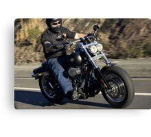 Harley Davidson Motorcycle Rider Canvas Print
