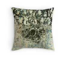 wax nest with eggs Throw Pillow