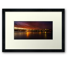 Twilight Phenomenon in Parramatta - Parramatta River Framed Print