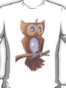 Purple Space Owl T-Shirt