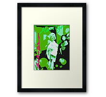 Green Munroe Framed Print