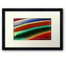 Surfboard ripple Framed Print