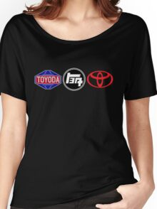 Toyota Logos - first to last Women's Relaxed Fit T-Shirt