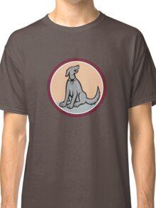 Dog Sitting Looking Up Cartoon Classic T-Shirt