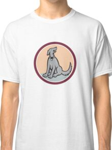 Dog Sitting Looking Up Cartoon Classic T-Shirt