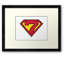 Super Seven Framed Print