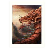 tibet dragon Art Print