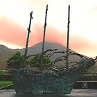 Famine Ship with Croagh Patrick by Desaster