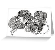 Swish tangle Greeting Card