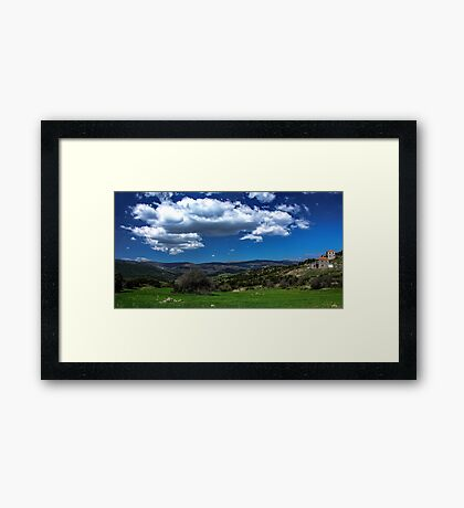On the green spring prairies Framed Print
