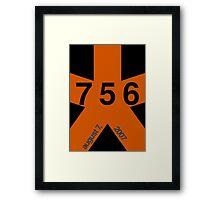 Barry Bonds 756 Framed Print