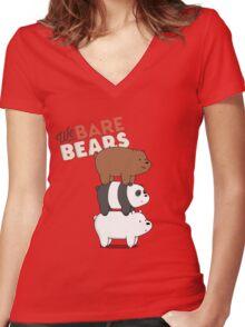 We Bare Bears - Cartoon Network Women's Fitted V-Neck T-Shirt