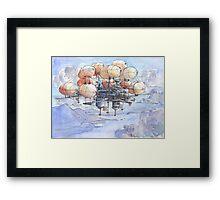 La citta' mongolfiera Framed Print