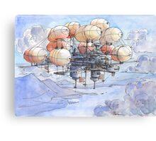 La citta' mongolfiera Canvas Print