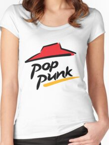 POP PUNK! Women's Fitted Scoop T-Shirt