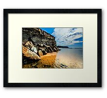 rock-water-seashore - Narrabeen Beach Framed Print
