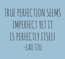 True perfection seems imperfect yet it is perfectly itself - Lao Tzu by Rob Price