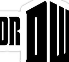 Doctor Who Logo Sticker