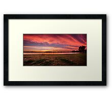 Pretty In Pink - Brays Bay Reserve Framed Print